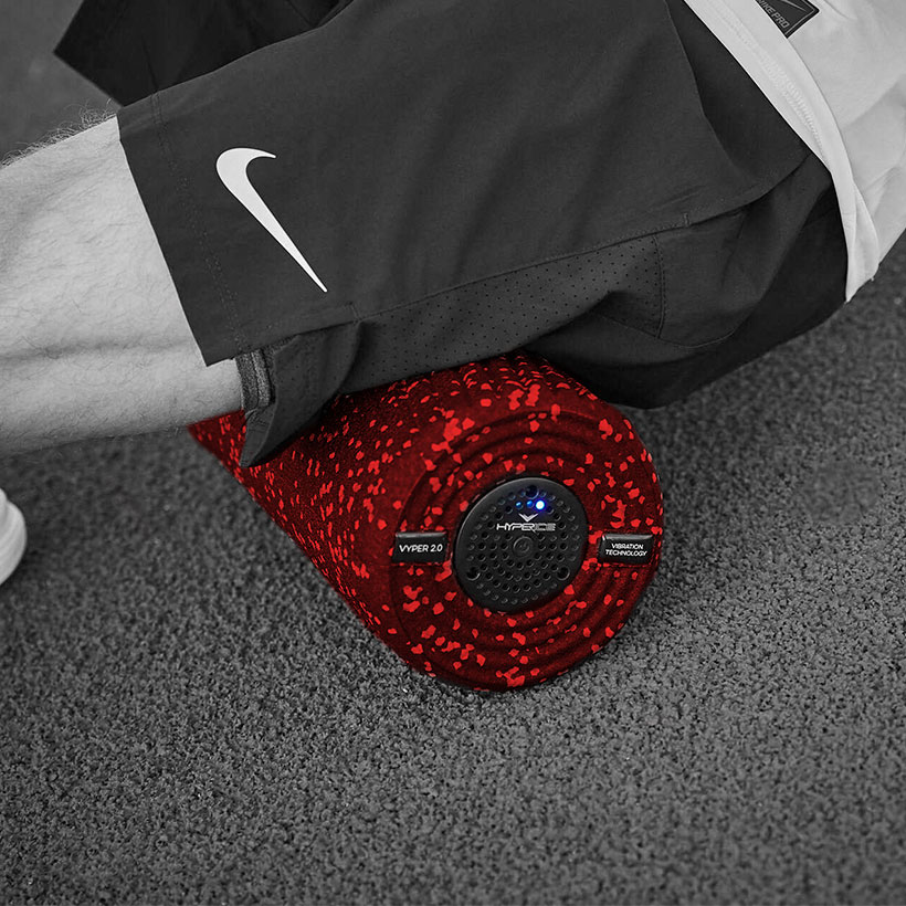 Using Hyperice Vyper 2.0 (Red) on hamstring